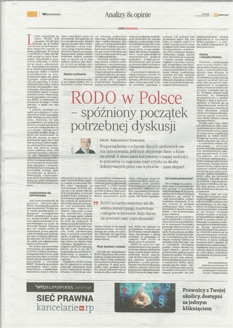 RODO w Polsce – spóźniony początek dyskusji